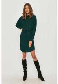 Zielona sukienka Noisy may casualowa, prosta, melanż, mini