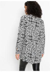 Biała bluzka bonprix z nadrukiem, długa