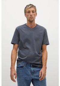 Szary t-shirt Mango Man casualowy, na co dzień