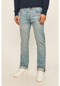 Niebieskie jeansy Levi's® na spotkanie biznesowe, casualowe, w kolorowe wzory