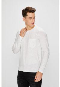 Biała koszulka z długim rękawem PRODUKT by Jack & Jones na co dzień, casualowa