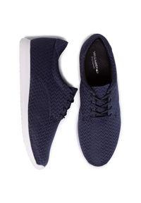 Niebieskie buty sportowe vagabond z cholewką, na płaskiej podeszwie