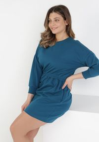Born2be - Niebieska Sukienka Apheasi. Okazja: na co dzień. Kolor: niebieski. Materiał: dzianina. Wzór: jednolity. Typ sukienki: proste. Styl: casual. Długość: mini
