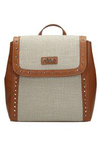 Nobo - Plecak damski brązowy NOBO NBAG-I1250-C017. Kolor: brązowy. Materiał: skóra ekologiczna. Styl: sportowy, elegancki