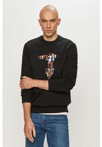 Trussardi Jeans - Bluza. Okazja: na co dzień. Kolor: czarny. Wzór: nadruk. Styl: casual