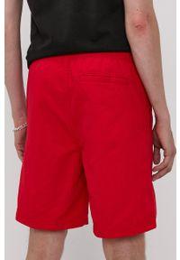 DC - Dc - Szorty. Okazja: na co dzień. Kolor: czerwony. Materiał: tkanina. Styl: casual