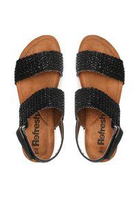 Refresh - Sandały REFRESH - 72755 Black. Okazja: na co dzień, na spacer. Kolor: czarny. Materiał: skóra ekologiczna, materiał, skóra. Sezon: lato. Styl: casual #7