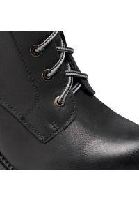 Czarne botki Refresh na obcasie, na średnim obcasie