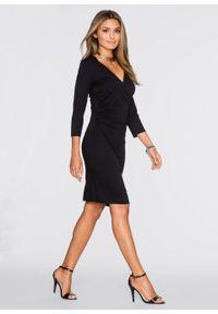 Czarna sukienka bonprix dopasowana