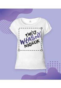 MegaKoszulki - Koszulka damska rolls z własnym nadrukiem. Wzór: nadruk