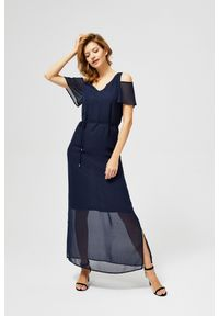 Niebieska sukienka MOODO maxi