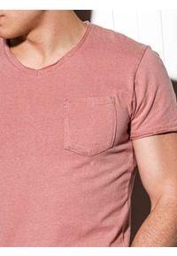 Różowy t-shirt Ombre Clothing