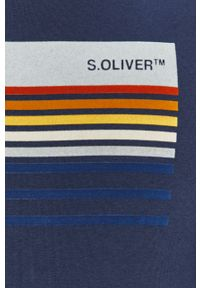 Niebieska bluza nierozpinana s.Oliver casualowa, z nadrukiem, na co dzień