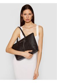 Calvin Klein Torebka Shopper Md Monogram K60K608101 Brązowy. Kolor: brązowy