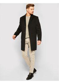 Czarny płaszcz przejściowy Roy Robson
