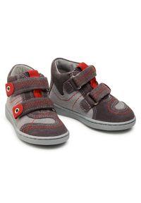 RenBut - Sneakersy RENBUT - 13-040 Popiel. Kolor: szary. Materiał: skóra, zamsz