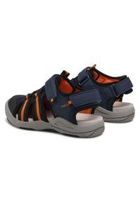 Geox - Sandały GEOX - J. S.Kyle A J15E1A 014CE C0820 D Navy/Orange. Kolor: niebieski. Materiał: materiał. Sezon: lato. Styl: klasyczny