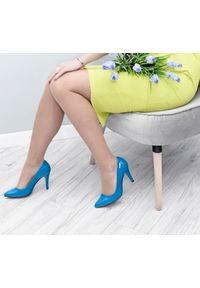 Turkusowe czółenka Zapato do domu, wąskie, w kolorowe wzory