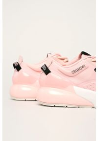 Różowe buty sportowe Kappa z okrągłym noskiem, na sznurówki, z cholewką