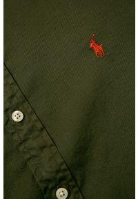 Zielona koszula Polo Ralph Lauren casualowa, polo, na co dzień, z długim rękawem