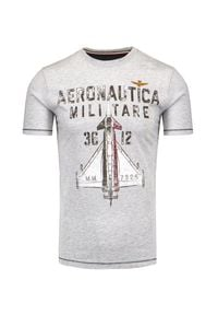 Aeronautica Militare - T-shirt AERONAUTICA MILITARE. Okazja: na co dzień. Materiał: bawełna. Wzór: haft, nadruk. Styl: casual