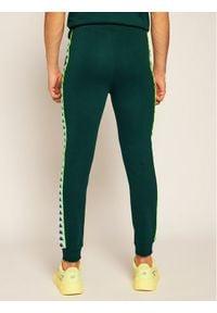 Kappa Spodnie dresowe Henner 308021 Zielony Regular Fit. Kolor: zielony. Materiał: dresówka