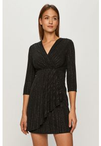 Czarna sukienka Morgan rozkloszowana, mini