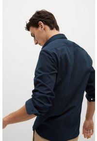 Niebieska koszula Mango Man długa, z klasycznym kołnierzykiem, klasyczna, z długim rękawem