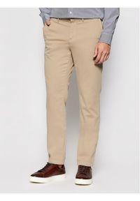 TOMMY HILFIGER - Tommy Hilfiger Spodnie materiałowe Core MW0MW08644 Beżowy Regular Fit. Kolor: beżowy. Materiał: materiał