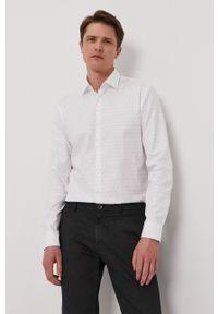 Hugo - Koszula. Typ kołnierza: kołnierzyk klasyczny. Kolor: biały. Materiał: tkanina. Długość rękawa: długi rękaw. Długość: długie. Styl: klasyczny