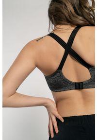 Szary biustonosz sportowy Dorina z odpinanymi ramiączkami, melanż