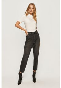 Szare jeansy loose fit Love Moschino