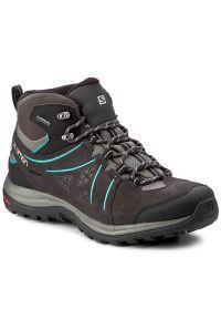 Szare buty trekkingowe salomon z cholewką, na lato