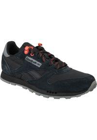 Czarne sneakersy Reebok w kolorowe wzory, z cholewką