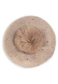 Brązowa czapka zimowa Liu Jo