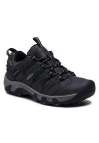 keen - Trekkingi KEEN - Koven Wp M 1025155 Black/Drizzle. Kolor: czarny. Materiał: skóra, materiał. Szerokość cholewki: normalna. Sport: turystyka piesza
