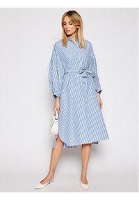 Niebieska sukienka Weekend Max Mara koszulowa