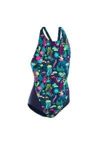 NABAIJI - Strój jednoczęściowy pływacki Kamiye All Alg dla dzieci. Kolor: wielokolorowy, różowy, niebieski. Materiał: poliamid, materiał, poliester