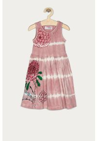 Różowa sukienka Desigual casualowa, mini, na ramiączkach