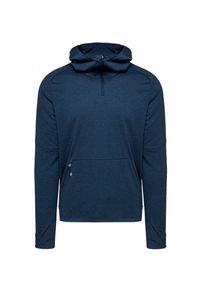 Niebieska bluza On Running na jesień, z kapturem