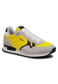 Pepe Jeans Sneakersy Britt Man Basic PMS30721 Żółty. Kolor: żółty