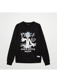 Cropp - Bluza z nadrukiem Rick and Morty - Czarny. Kolor: czarny. Wzór: nadruk