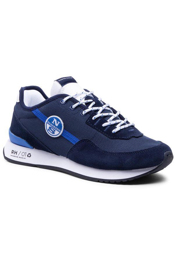 North Sails - Sneakersy NORTH SAILS - RH/01 Recy -054 Navy. Kolor: niebieski. Materiał: materiał, zamsz, skóra. Szerokość cholewki: normalna