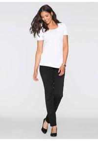 Shirt ciążowy i do karmienia (2 szt.) bonprix czarno-biały. Kolekcja: moda ciążowa. Kolor: czarny
