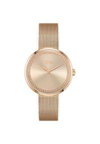 Złoty zegarek HUGO BOSS analogowy, elegancki