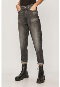 Szare jeansy G-Star RAW z podwyższonym stanem #4