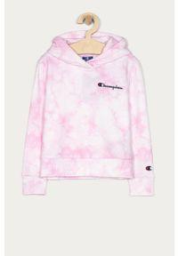 Różowa bluza Champion z kapturem, na co dzień, casualowa