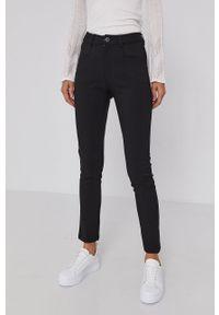 Desigual - Spodnie. Kolor: czarny. Materiał: tkanina