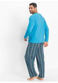 Piżama bonprix turkusowy w kratę. Kolor: szary. Długość: długie #5