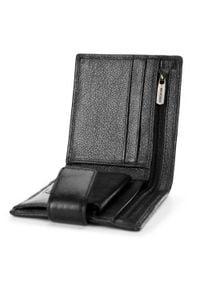 Wittchen - Męski portfel skórzany z zapięciem na napę. Kolor: czarny. Materiał: skóra #6